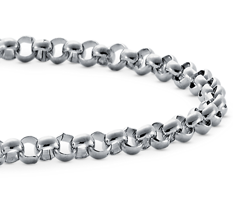 Rolo Chain Bracelet in Platinum