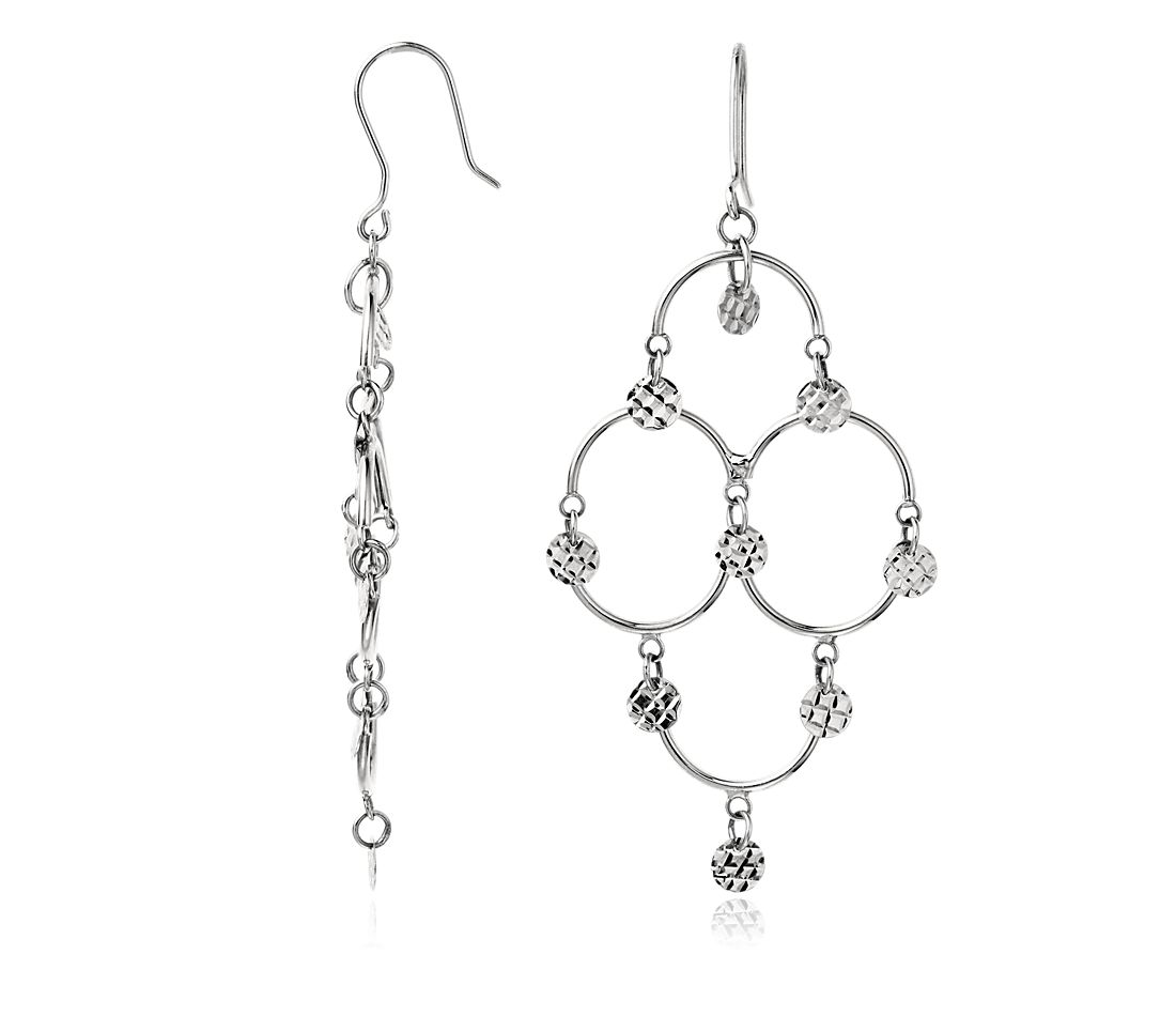 Chandelier Earrings in Platinum