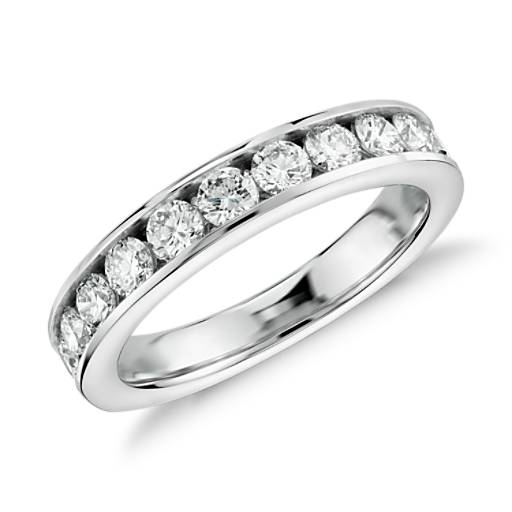 Channel-Set Diamond Ring in 14k White Gold (1 ct. tw.)