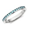 Aquamarine Channel Set Ring in 14k White Gold