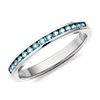 Aquamarine Channel Set Ring in 14k White Gold