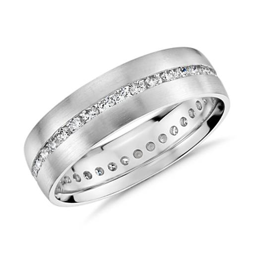 NEW Channel-Set Diamond Eternity Ring in 14k White Gold (6mm)