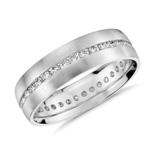 Channel-Set Diamond Eternity Ring in Platinum (6mm)