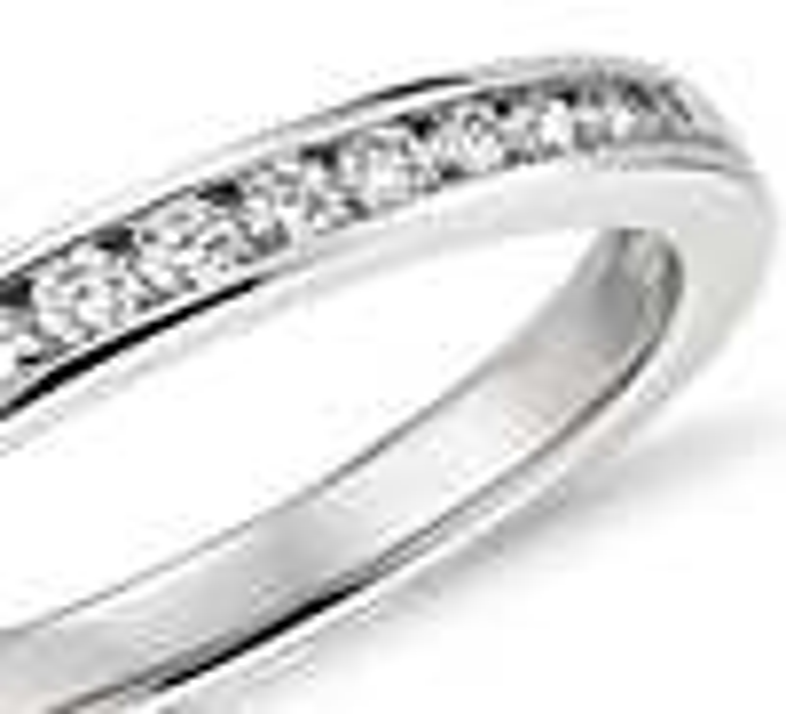 Channel Set Diamond Ring in Platinum (1/4 ct. tw.)