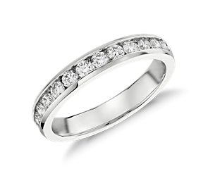 Channel-Set Diamond Ring in 14k White Gold (1/2 ct. tw.)