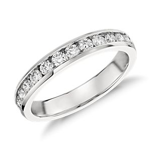 Channel-Set Diamond Ring in Platinum