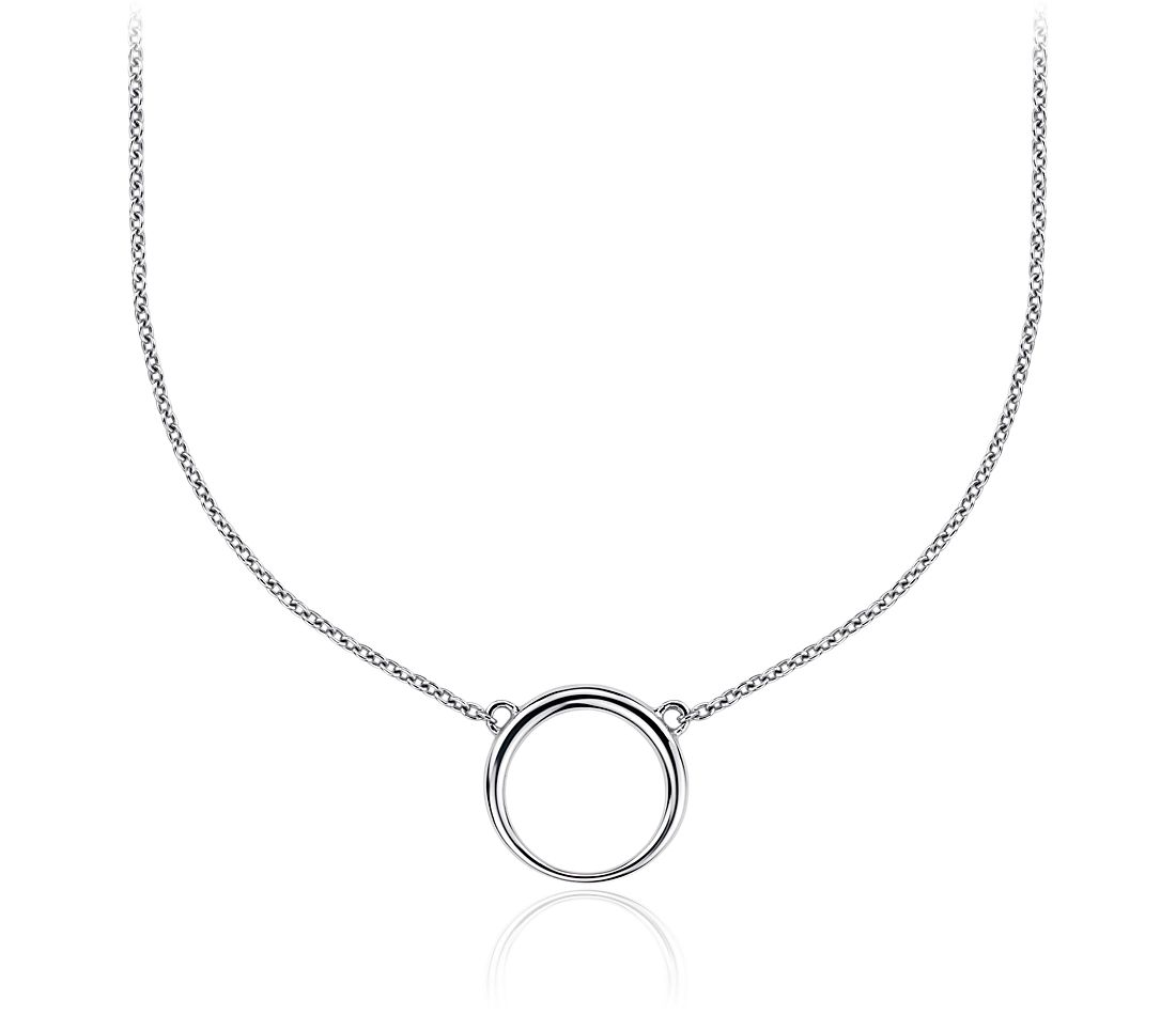 Charm Holder Necklace in Sterling Silver