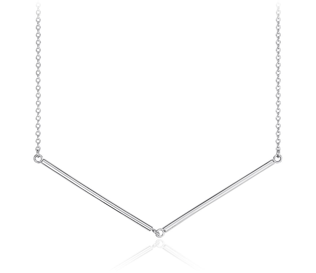 Chevron Necklace in Sterling Silver