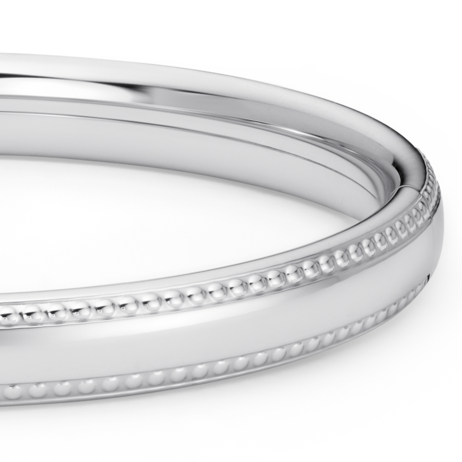 Bracelet jonc orné de perles pour enfants en argent sterling