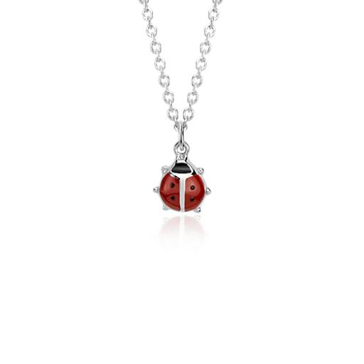 Children's Lady Bug Pendant in Sterling Silver
