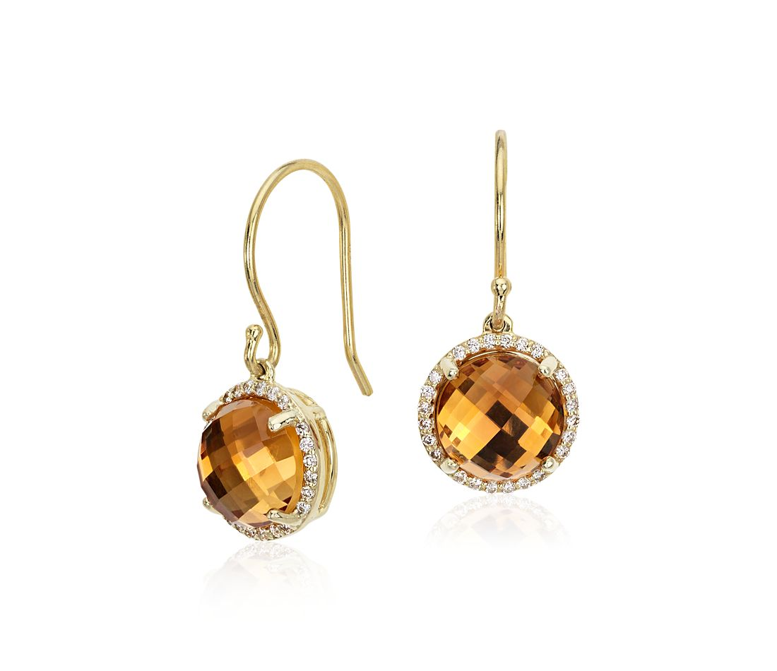 yellow diamond halo earrings - photo #48