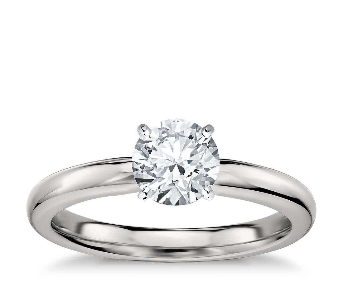 Classic Wedding Rings: Classic Comfort Fit Solitaire Engagement Ring In Platinum