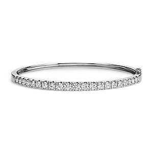 Classic Diamond Bangle in 18k White Gold (2.5 ct. tw.)