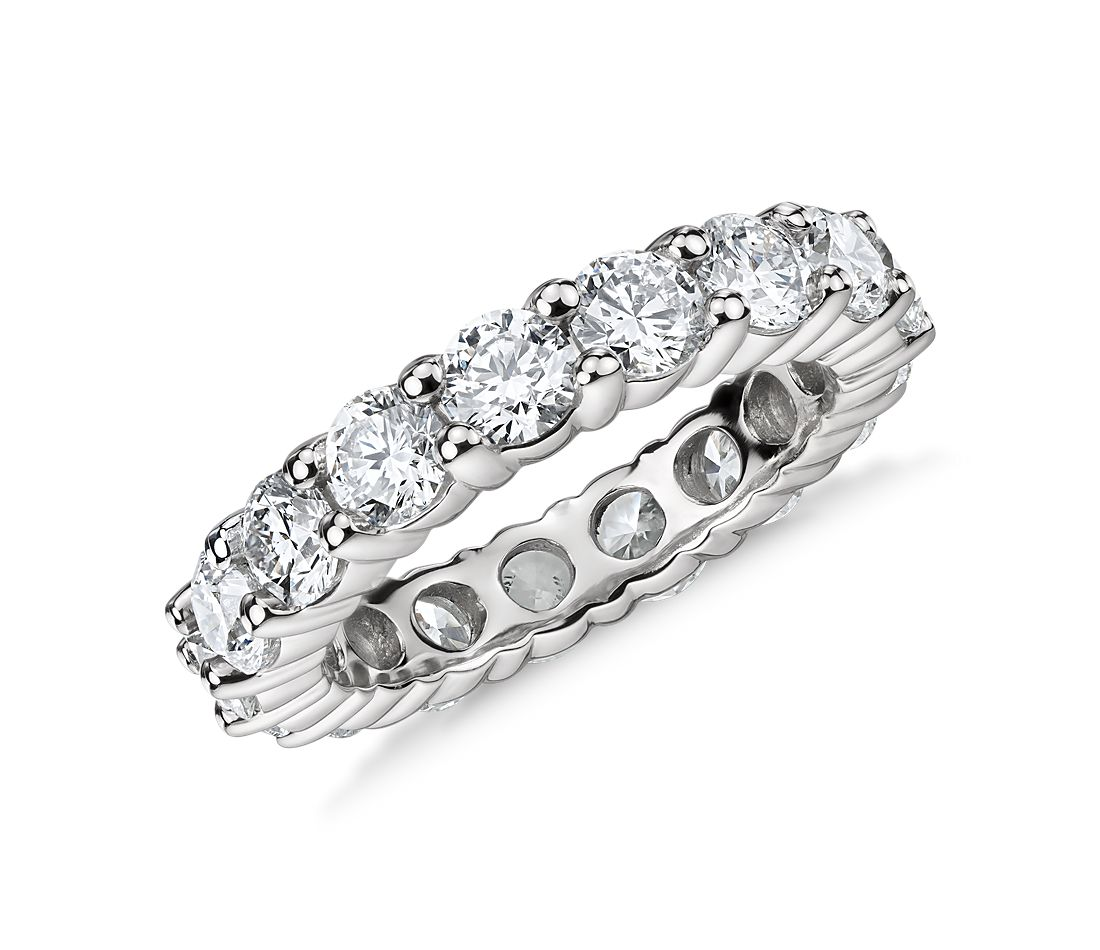 Classic Diamond Eternity Ring In Platinum (4 Ct. Tw