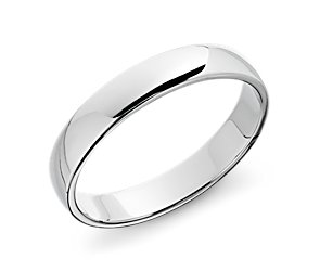 Classic Wedding Ring in 14k White Gold (5mm)