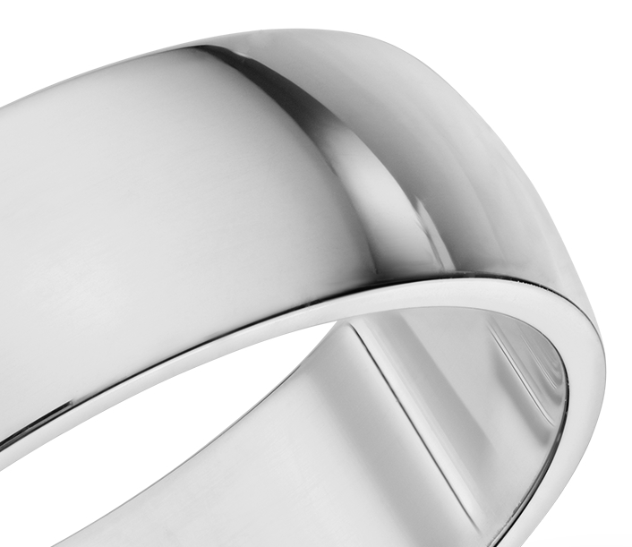 Alliance Classic en or blanc 14 carats (6 mm)