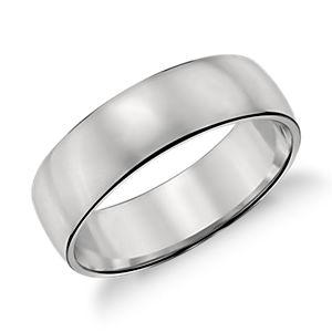 鉑金經典結婚戒指( 6毫米)