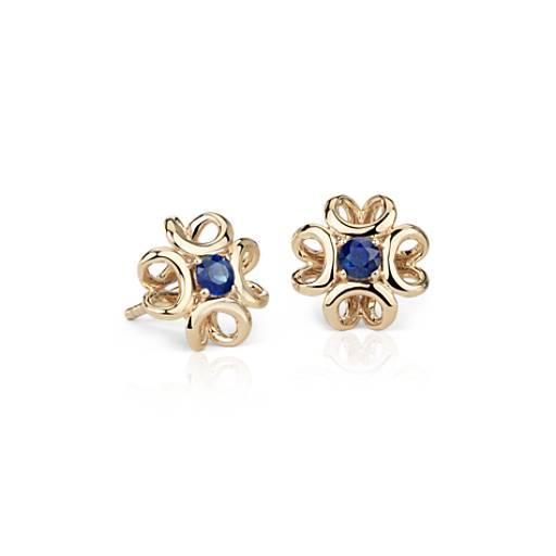 Colin Cowie Sapphire Stud Earring in 14k Yellow Gold (3mm)