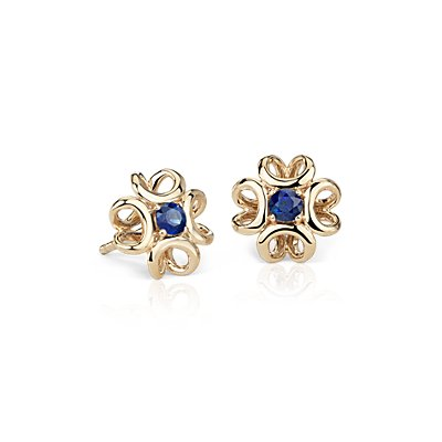 Colin Cowie Sapphire Stud Earring in 14k Yellow Gold (3mm)