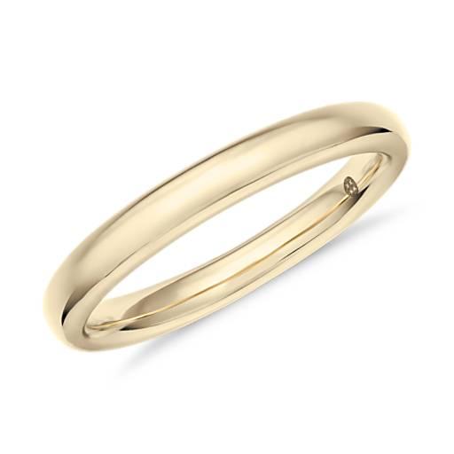 Alianza de diamantes clásica de Colin Cowie en oro amarillo de 18k