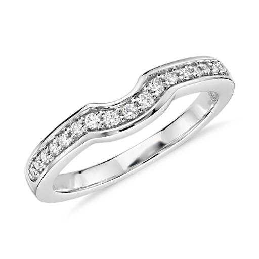 Colin Cowie Curved Pavé Diamond Ring in Platinum