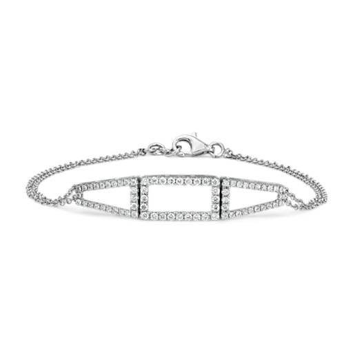 NEW Colin Cowie Diamond Geometric Bracelet in 14k White Gold