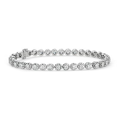 Bracelet diamants Colin Cowie en or blanc 14 carats (3 ct. pt.)