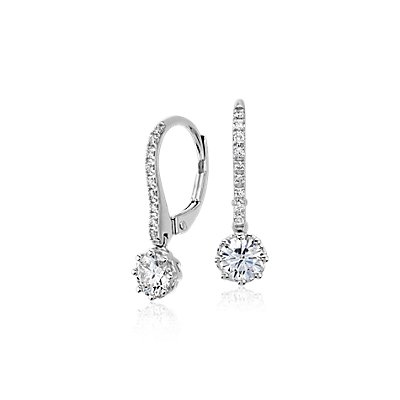 Colin Cowie Diamond Drop Earring in 14k White Gold (3/4 ct. tw.)