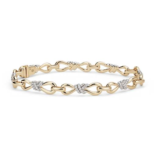 Colin Cowie Diamond Infinity Bracelet in 14k Yellow Gold