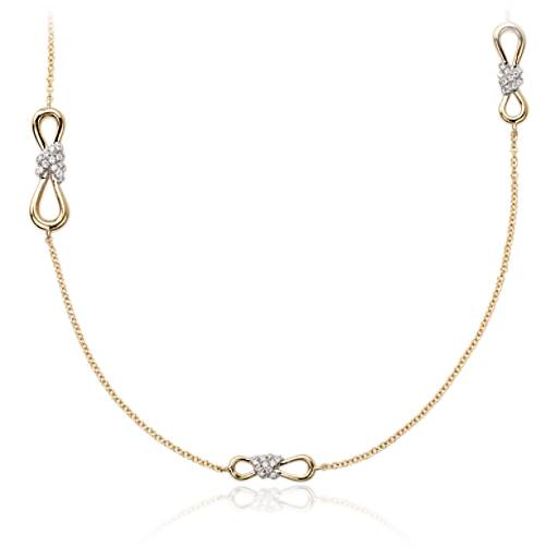 Colin Cowie Diamond Infinity Chain Necklace14k Yellow Gold (2/5 ct. tw.)