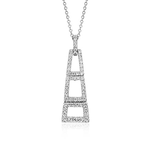 NEW Colin Cowie Diamond Geometric Pendant in 14k White Gold