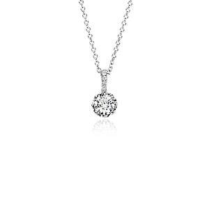 Colgante de diamantes de Colin Cowie en oro blanco de 14 k ((1/2qt. totales