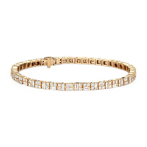 NOUVEAU Bracelet tennis traits et points Colin Cowie en or jaune 14 carats