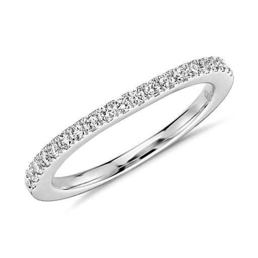 Colin Cowie Curved Pavé Diamond Ring in Platinum (1/4 ct. tw.)