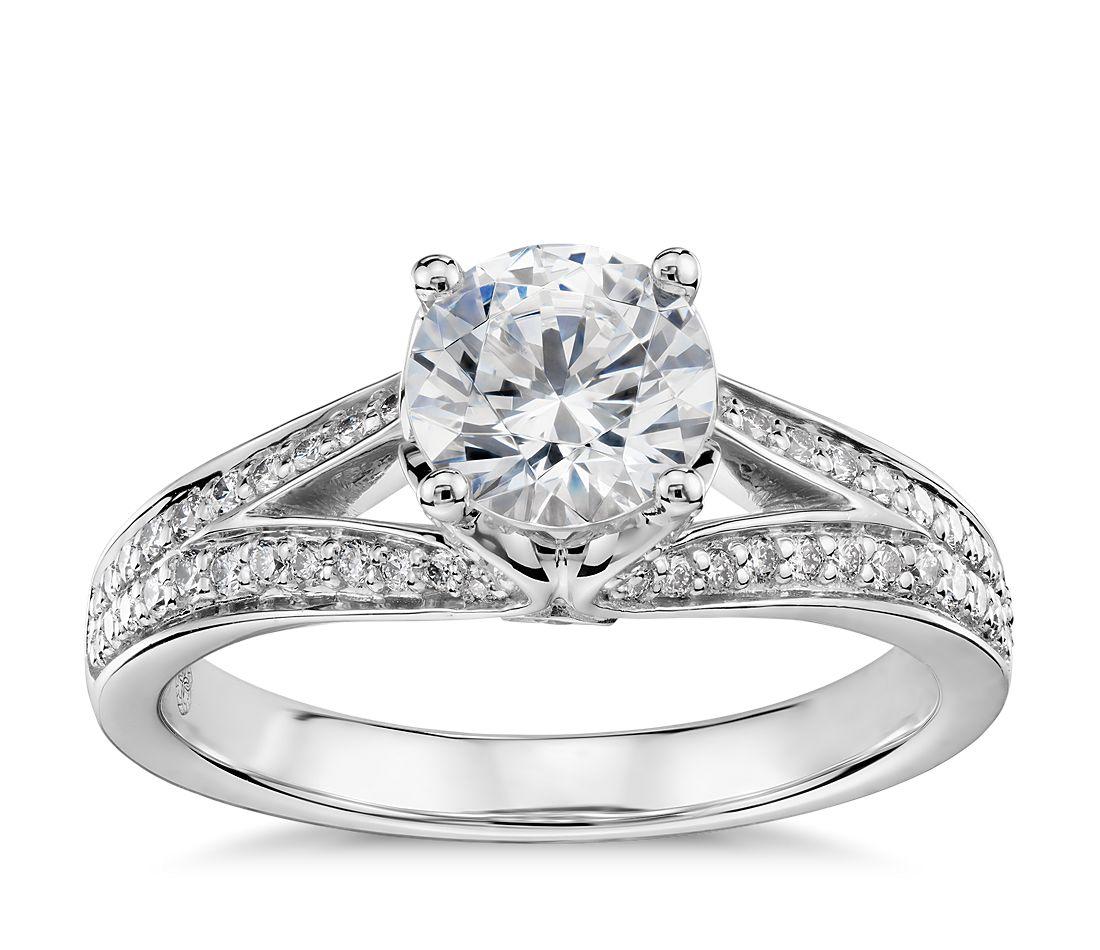 Colin Cowie Eternal Pav 233 Split Shank Diamond Engagement