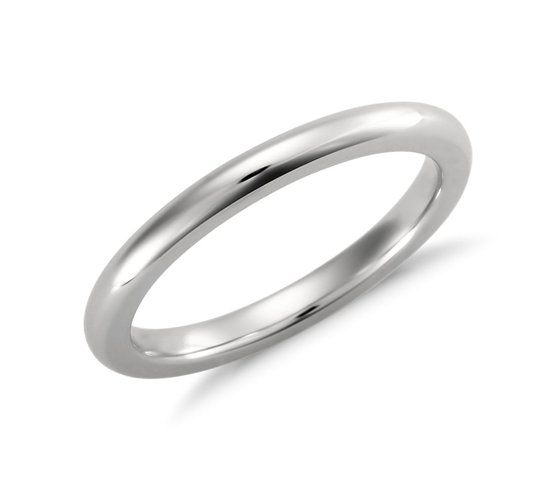 comfort fit wedding ring in platinum 2mm blue nile