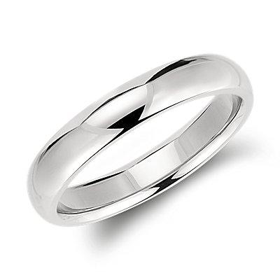 Comfort Fit Wedding Ring in Palladium (4mm)