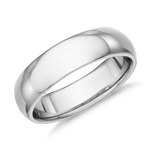 Comfort Fit Wedding Ring in Palladium (6mm)