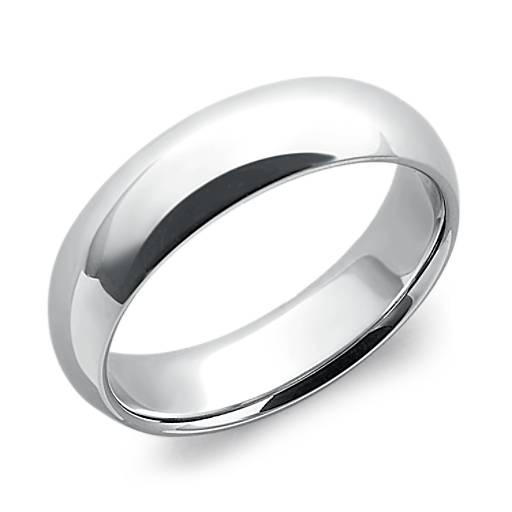 Comfort Fit Wedding Ring in Platinum (6mm)