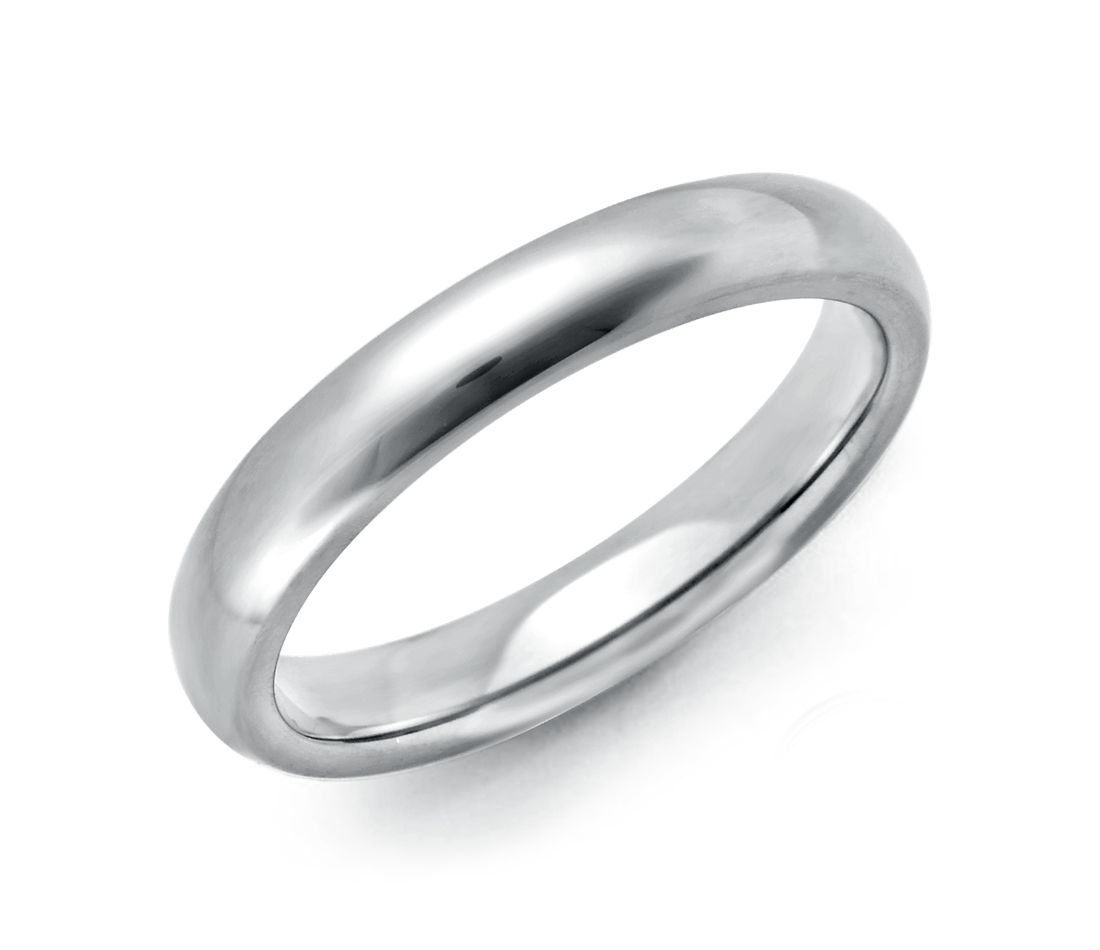 Milgrain Comfort Fit Wedding Ring In Platinum 6mm: Comfort Fit Wedding Ring In Platinum (3mm)