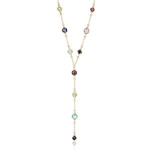 NEW Confetti Multi-Gemstone Y-Necklace in 14k Yellow Gold