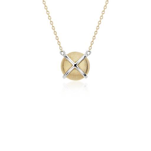 Collar Strie con diseño entrecruzado de Frances Gadbois en oro amarillo de 14k y Plata de ley