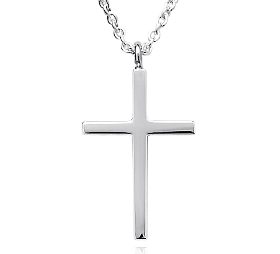Children's Cross Pendant in Sterling Silver (14