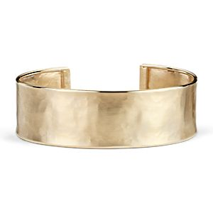 Satin Cuff Bracelet in 14k Yellow Gold