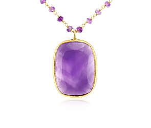 Amethyst Necklace in Gold Vermeil