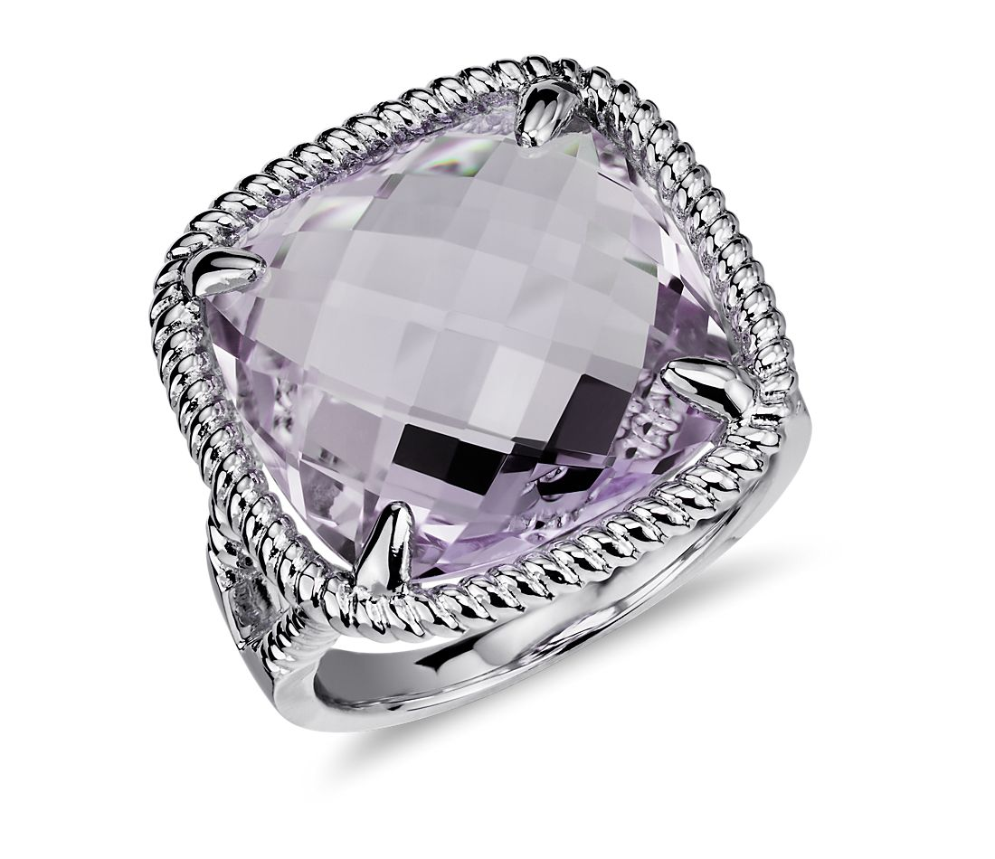 lavender amethyst ring in sterling silver blue nile