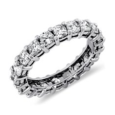 Cushion-Cut Diamond Eternity Ring in Platinum  (3 ct. tw.)