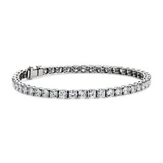 Cushion Diamond Tennis Bracelet in Platinum (9.50 ct. tw.)