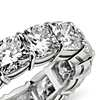 Cushion Cut Diamond Eternity Ring in Platinum (10.00 ct. tw.)