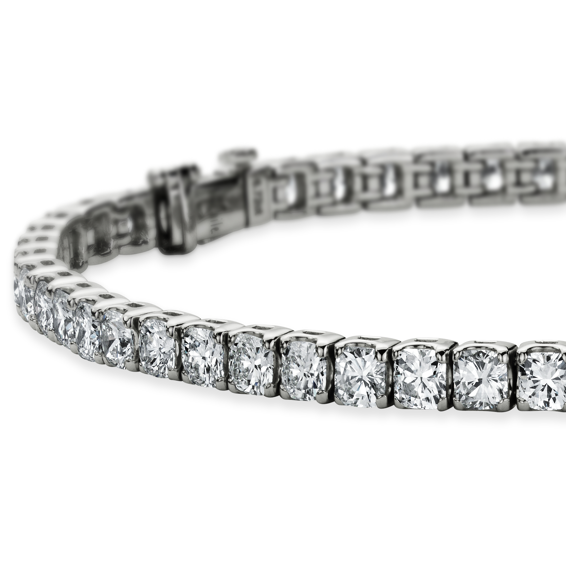 Cushion Diamond Tennis Bracelet in Platinum (6.5 ct. tw.)